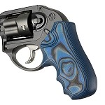 Ruger LCR Enclosed Hammer G10 Smooth G-Mascus Blue Lava