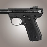 Ruger MKIII 22/45 RP G10 Checkered Solid Black