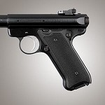 Ruger MK II III G10 Checkered Solid Black