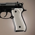 Beretta 92FS Alum Checkered Brushed Gloss Clear