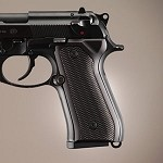 Beretta 92FS Alum Checkered Brushed Gloss Black