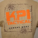 Tan KPI Tactical Logo T-Shirt
