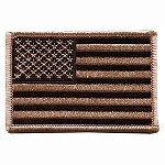 Desert Tan Iron On / Sew On Embroidered US Flag Patch