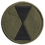 7th Infantry Division Patch - Subdued