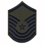 USAF Senior Master Sergeant 1986-1992 Patch - Subdued