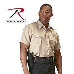 Khaki Short-Sleeve Uniform Shirt