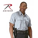 Grey Short-Sleeve Uniform Shirt