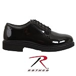 Wide Width Hi Gloss Navy Oxfords