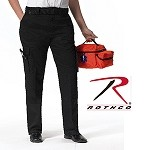 Womens Black E.M.T. Pants w/Expandable Waistband