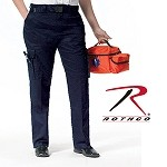 Womens Navy Blue E.M.T. Pants w/Expandable Waistband