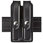 Leather Look Slimline Double Magazine Pouch