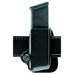 Leather Look Open Top Single Magazine Pouch, Paddle