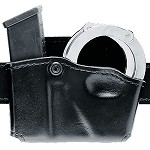 Leather Look Open Top Magazine & Handcuff Pouch