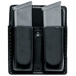 Leather Look Open Top Double Magazine Pouch