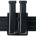 Leather Look Slimline Open Top Double Magazine Pouch