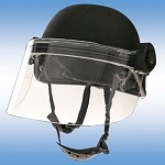 Paulson Integrated Riot Face Shield - Short