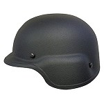 Black PASGT Helmet with Integrated Face Shield Fittings